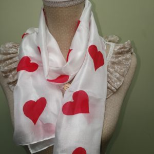 Silk Heart scarf