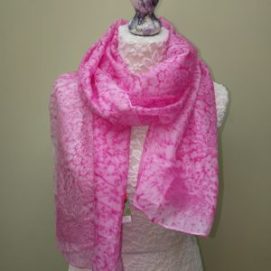 Pink silk scarf. Medium scarf.