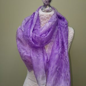 Lavander silk scarf. Medium size.