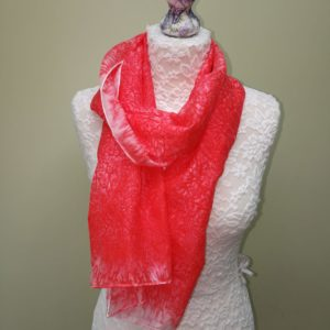Coral/red  silk scarf