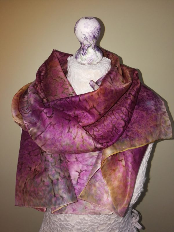 Multi coloured  silk scarf.