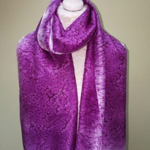 Aubergine silk scarf. Medium scarf.