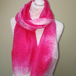 Deep pink. Medium silk scarf.