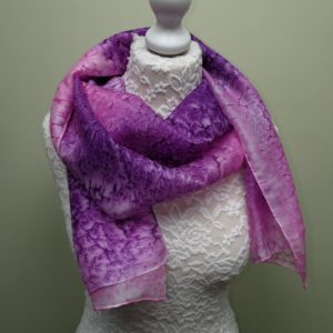 Pink/Purple silk scarf.