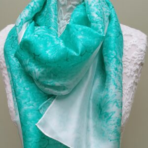 Turquoise silk scarves. Medium size.