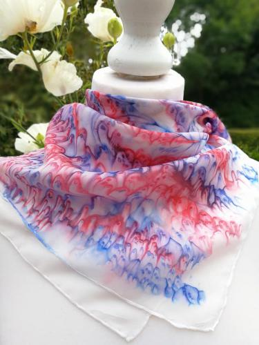 Blue and red scarf